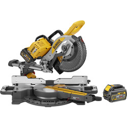DeWalt DeWalt 54V XR FlexVolt 250mm Double Bevel Slide Mitre Saw 2 x 6.0Ah - 63357 - from Toolstation