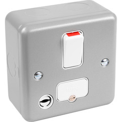 MK Metal Clad 13A DP Switched Connection Unit With Flex Outlet