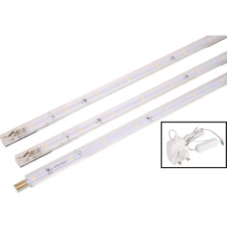 Meridian Lighting LED Strip Light 3W 160lm 3 x 250mm Kit - 63452 - from Toolstation