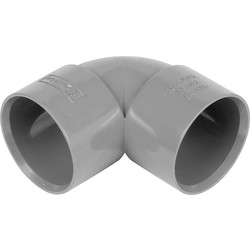 Aquaflow Solvent Weld Bend 90° 32mm Grey - 63490 - from Toolstation