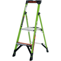 Little Giant Little Giant Mighty Lite Fibreglass Step Ladder 2 Tread SWH 2.17m - 63550 - from Toolstation
