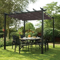Rowlinson Rowlinson Latina Gazebo - Grey 234.5cm (h) x 300cm (w) x 300cm (d) - 63556 - from Toolstation