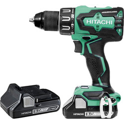 Hitachi Hitachi DV18DBFL2 18V Li-Ion Cordless Brushless Combi Drill 2 x 3.0Ah - 63686 - from Toolstation