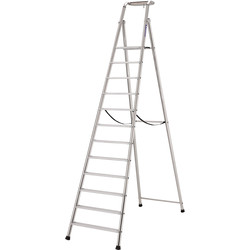 TB Davies TB Davies Pro Probat Platform Step Ladder 12 Tread SWH 4.4m - 63698 - from Toolstation