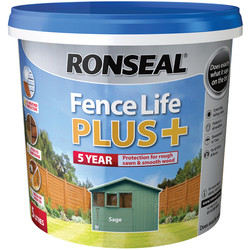 Ronseal Ronseal Fence Life Plus 5L Sage - 63724 - from Toolstation