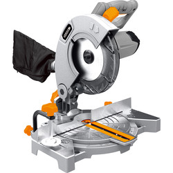 Bauker Bauker 1100W 210mm Single Bevel Mitre Saw 240V - 63766 - from Toolstation