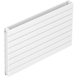 Tesni Eve Double Panel Horizontal Designer Radiator 578 x 1200mm 4422Btu White