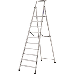 TB Davies TB Davies Pro Probat Platform Step Ladder 10 Tread SWH 4.0m - 63840 - from Toolstation