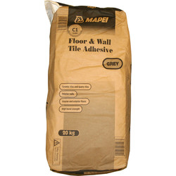 Mapei Mapei Floor & Wall Tile Adhesive 20kg Grey - 63842 - from Toolstation