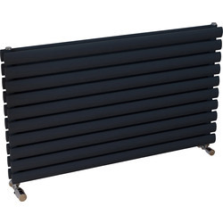 Ximax Ximax Bristol Double Horizontal Designer Radiator 584 x 1000mm 3274Btu Anthracite - 63861 - from Toolstation