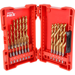 Milwaukee Milwaukee Shockwave HSS-G Red Hex Impact Rated Drill Bit Set  - 63868 - from Toolstation
