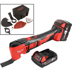 Milwaukee Milwaukee M18BMT-421C 18V Li-Ion Cordless Multi Cutter 1 x 4.0Ah & 1 x 2.0Ah - 63933 - from Toolstation