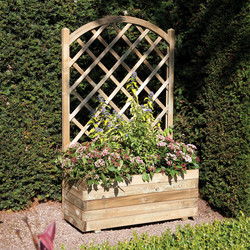 Rowlinson Rowlinson Rectangular Planter & Lattice 138cm (h) x 42cm (w) x 90cm (d) - 63934 - from Toolstation