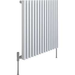 Kudox Kudox Xylo White Designer Radiator 600 x 580mm 1901Btu - 63959 - from Toolstation