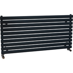 Ximax Ximax Bristol Single Horizontal Designer Radiator 584 x 1200mm 2694Btu Anthracite - 63963 - from Toolstation