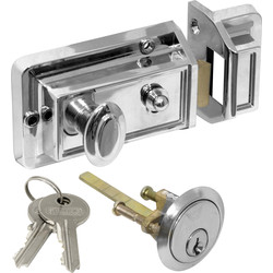 Traditional Nightlatch Chrome Narrow - 63968 - from Toolstation