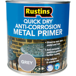 Rustins Quick Dry Anti Corrosion Metal Primer Grey 1L - 64050 - from Toolstation