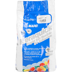 Mapei Mapei Keraquick Rapid Set Tile Adhesive 5kg Grey - 64071 - from Toolstation