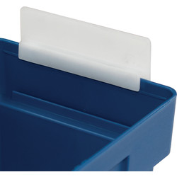 Barton Shelf Bin End Stop 80 x 95mm - 64133 - from Toolstation