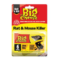 The Big Cheese Mouse & Rat Killer2 Grain Bait Sachets