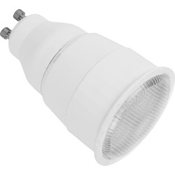 CED Energy Saving CFL Lamp GU10 7W Warm White 160lm A - 64246 - from Toolstation