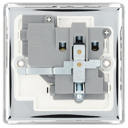 BG Polished Chrome 13A DP Switched Socket