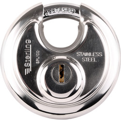 Sterling Sterling Stainless Steel Disc Padlock 70 x 9.5 x 17.5mm - 64344 - from Toolstation