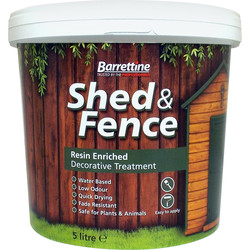 Barrettine Shed & Fence Treatment 5L Dark Brown - 64354 - from Toolstation
