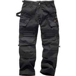 "Scruffs Black 3D Expert Floor Laying Trousers 36"" R"