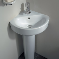 Ideal Standard Senses Space Corner Basin And Pedestal
