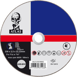 Norton Metal Cutting Disc 230 x 2.5 x 22mm - 64456 - from Toolstation