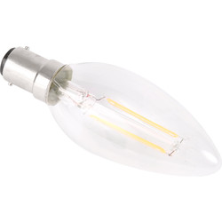 Meridian Lighting LED Filament Candle Lamp 2W SBC 230lm A++ - 64510 - from Toolstation