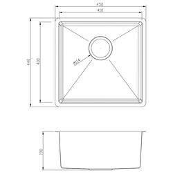Stainless Steel Single Bowl Kitchen Sink