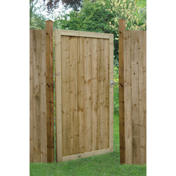 Forest Forest Garden Pressure Treated Square Board Gate 180cm (h) x 92cm (w) x 4.4cm (d) - 64536 - from Toolstation