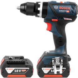 Bosch Bosch GSB 18 V-60 C 18V Cordless Brushless Combi Drill 2 x 5.0Ah - 64570 - from Toolstation