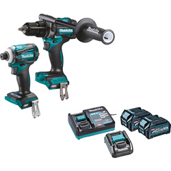 Makita Makita XGT 40V Max Combi Drill & Impact Driver Kit 2 x 2.5Ah - 64586 - from Toolstation