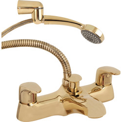 Methven Methven Adore Deck Mounted Bath Shower Mixer Tap Gold - 64587 - from Toolstation