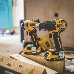 DeWalt DCK2062D2T-GB 18V XR Brushless Compact Combi Drill & Impact Driver Twin Pack