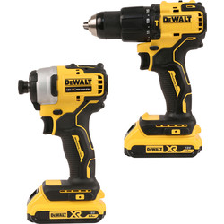 DeWalt DeWalt DCK2062D2T-GB 18V XR Li-Ion Brushless Compact Combi Drill & Impact Driver Twin Pack 2 x 2.0Ah - 64637 - from Toolstation