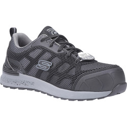 Skechers Skechers Bulklin SK77273EC Ladies Safety Trainers Black / Grey Size 7 - 64646 - from Toolstation
