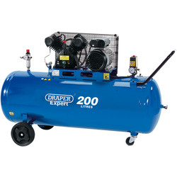 Draper Expert Draper 200L 2200W V-Twin Belt-Driven Air Compressor 230V - 64669 - from Toolstation