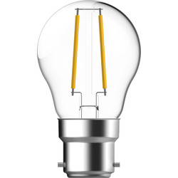 Energetic Lighting Energetic LED Filament Ball Dimmable Lamp Clear 4.8W BC 470lm - 64677 - from Toolstation