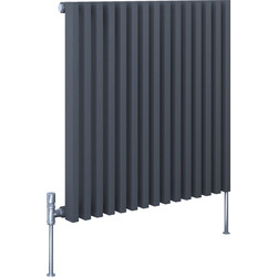 Kudox Kudox Xylo Anthracite Designer Radiator 600 x 580mm 1901Btu - 64726 - from Toolstation