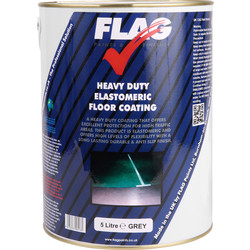 Flag Heavy Duty Elastomeric Floor Paint 5L Grey - 64732 - from Toolstation