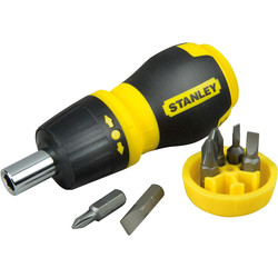 Stanley Stanley Stubby Multibit Ratcheting Screwdriver  - 64778 - from Toolstation
