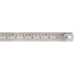 Stainless Steel Ruler 600mm - 64784 - from Toolstation