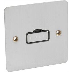 Flat Plate Satin Chrome Fused Spur 13A Unswitched - 64813 - from Toolstation