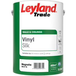 Leyland Trade Leyland Trade Vinyl Silk Emulsion Paint 5L Magnolia - 64897 - from Toolstation