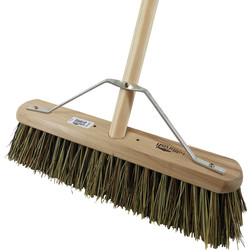 "Hill Brush Company Industrial Stiff Platform Broom With Handle 18"" (457mm) Natural - 64969 - from Toolstation"