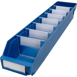Barton Blue Shelf Bin 600 x 120 x 95mm - 64989 - from Toolstation